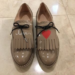 Zara 3-in-1 Patent Oxford Shoes, 36